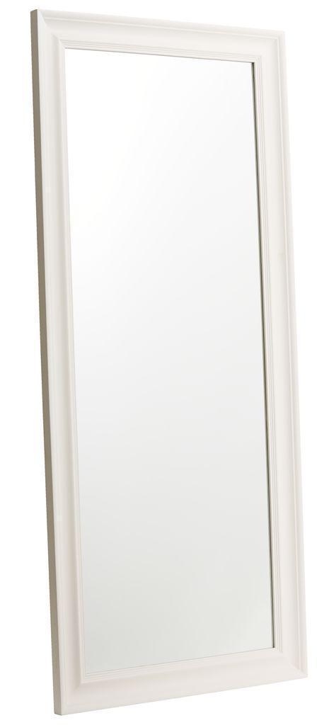 Напольное большое зеркало белое 180см