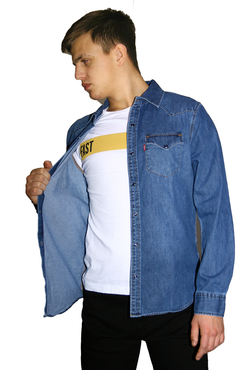 Рубашка мужская джинсовая LEVIS 1997 VEGAS 02