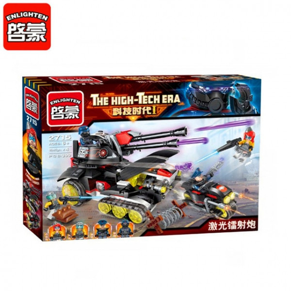 Конструктор lego Brick 2715 Enlighten Танк з лазерною гарматою 399 дет.