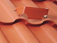 Снегорез Подковка для металлочерепицы, кирпичный, RAL 8004, фото 1