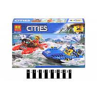Конструктор CITIES 10861 (аналог Lego City 60176) «Погоня по горной реке» 138 дет.