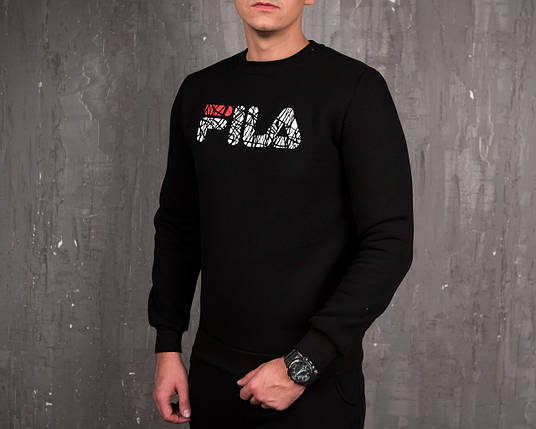e854b2fbe0ef Теплый свитшот Fila черный топ реплика: продажа, цена в Киеве ...