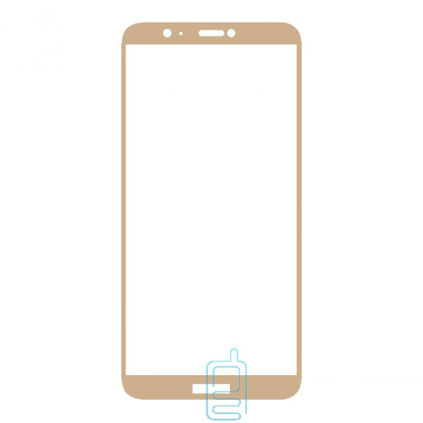 Защитное стекло Full Screen Huawei P Smart, Enjoy 7s gold тех.пакет