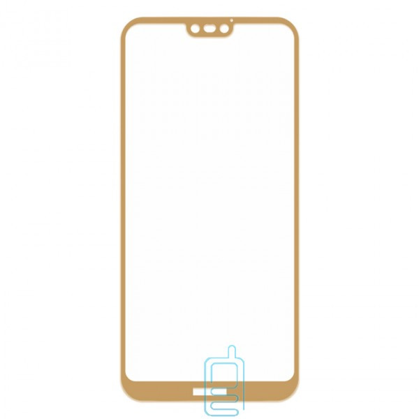 Защитное стекло Full Screen Huawei P20 Lite gold тех.пакет
