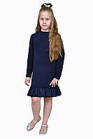 Платье  детское с длинным рукавом   М -1110  рост 110-170 трикотажное , фото 1