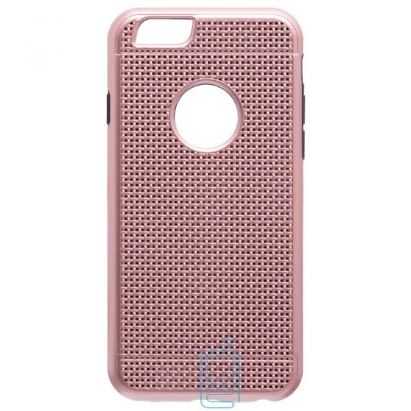 Чехол-накладка GINZZU Carbon X1 Apple iPhone 6, 6S розовый