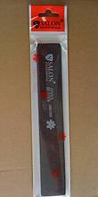 Пилка для ногтей Salon Professional 100/100, прямая широкая, черная