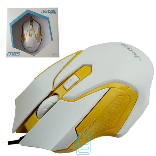 Мышь проводная Jedel M85 желтая