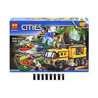 Конструктор CITIES 10711 (аналог Lego City 60160) «Передвижная лаборатория в джунглях» 465 дет.
