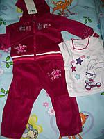 """Спортивный костюм для девочки 6 месяцев - 1 год """"Детский мир"""""""