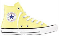 """Кеды Converse Chuck Taylor All Star High """"Light Yellow""""  (Копия ААА+)"""