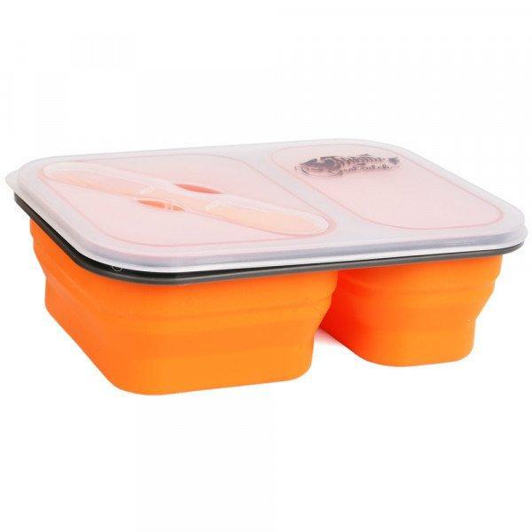 Контейнер на 2 отсека Tramp с ловилкой 900 мл Оранжевый (TRC-090-orange)