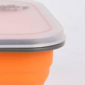 Контейнер на 2 отсека Tramp с ловилкой 900 мл Оранжевый (TRC-090-orange), фото 2