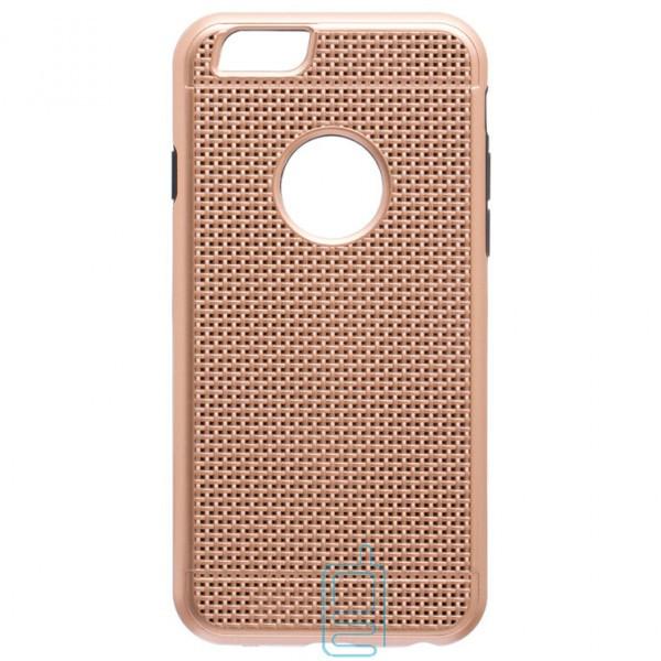 Чехол-накладка GINZZU Carbon X1 Apple iPhone 6, 6S золотистый