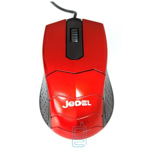 Мышь проводная Jedel JD05 красная