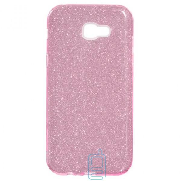 Чехол силиконовый Shine Samsung A7 2017 A720 розовый