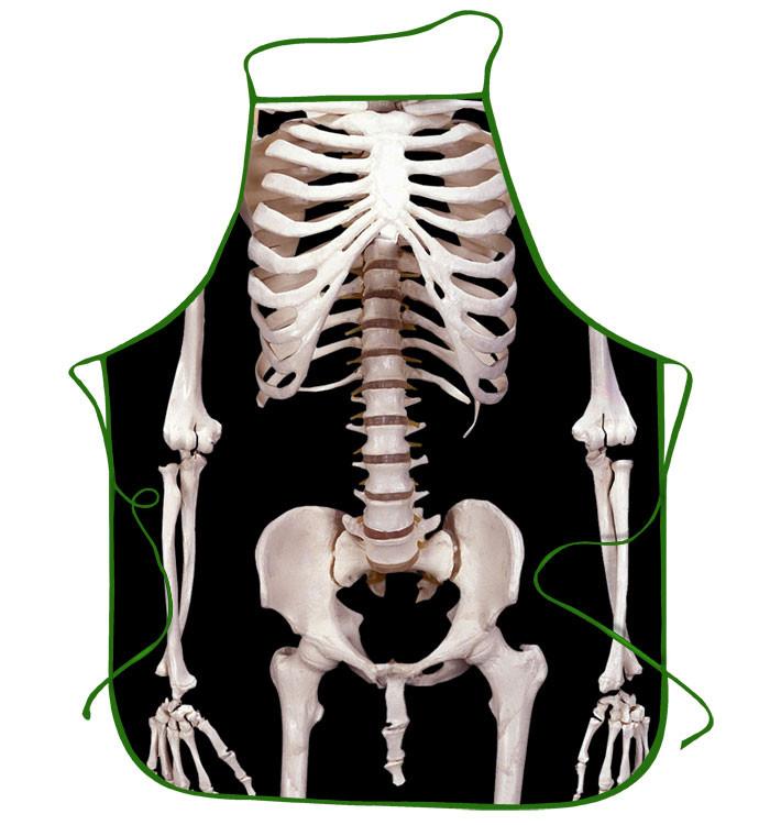 Прикольный фартук скелет мужик