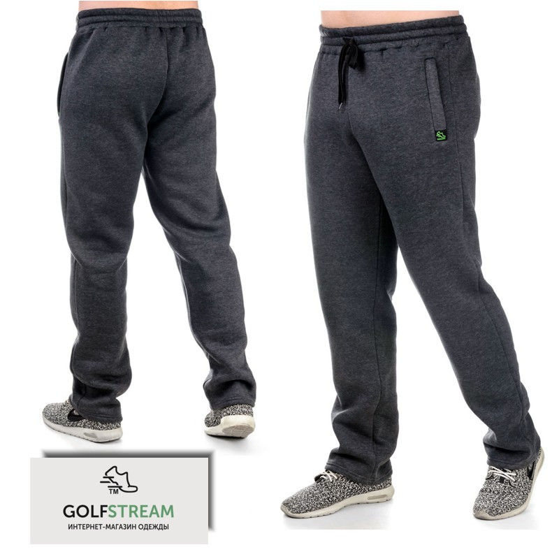 Теплые спортивные брюки 018 антрацит