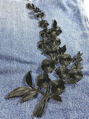 Нашивка Гілка Кольорів вишита чорна 130x270 мм права, фото 2