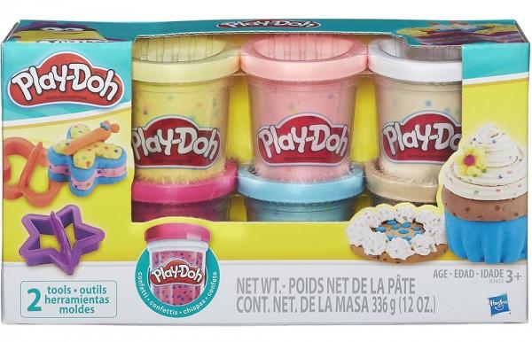 Набір пластиліну Play-Doh 6 баночок з конфетті