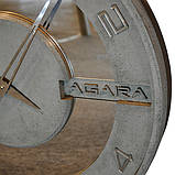 БЕТОННІ ГОДИННИК LORI mirror, 64 см, Agara, фото 2