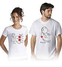 Футболки для влюбленных пар Магнит любви