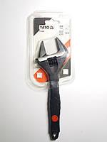 Ключ разводной 200мм, обрезиненная рукоятка, развод губок 38мм, Cr-V Yato (YT-21656), фото 1