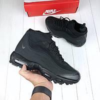 ad90a77d Nike Air Max 95 Sneakerboot Triple Black | кроссовки мужские; высокие;  черные; зимние