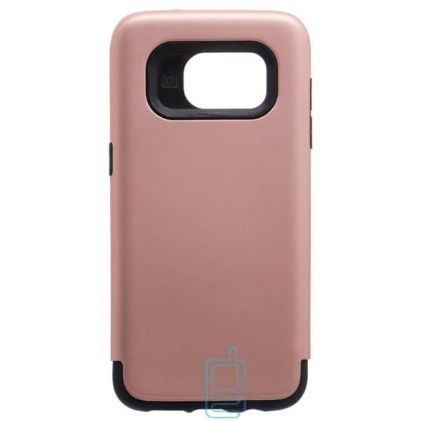 Чехол-накладка Motomo X1 Samsung S7 Edge G935 розово-золотистый