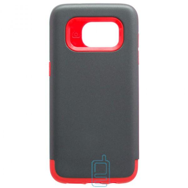 Чехол-накладка Motomo X1 Samsung S7 Edge G935 серо-красный