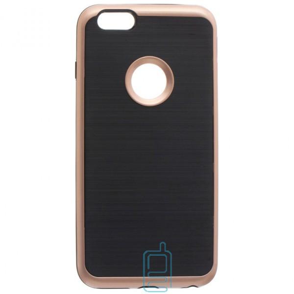 Чехол-накладка Motomo X3 Apple iPhone 6, 6S розово-золотистый