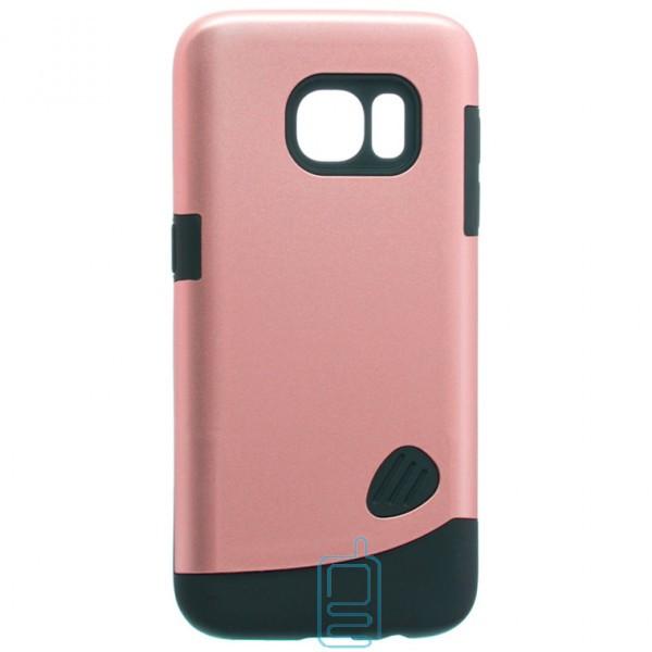 Чехол-накладка Motomo X4 Samsung S7 G930 розово-золотистый