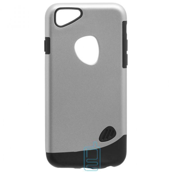 Чехол-накладка Motomo X4 Apple iPhone 6, 6S серебристый