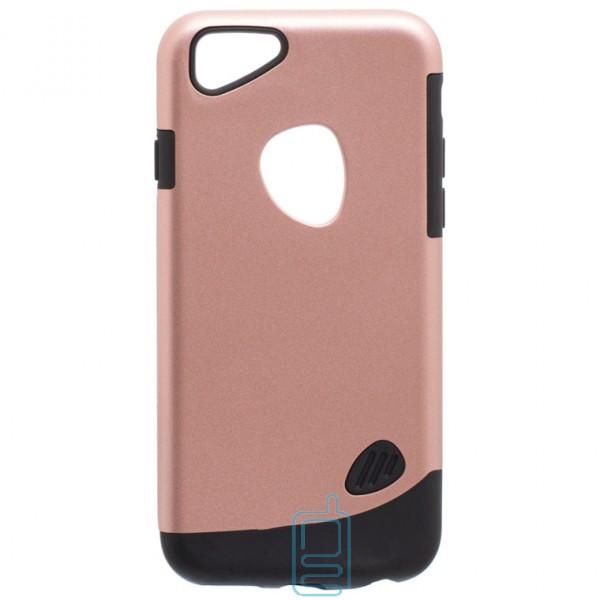 Чехол-накладка Motomo X4 Apple iPhone 6, 6S розово-золотистый