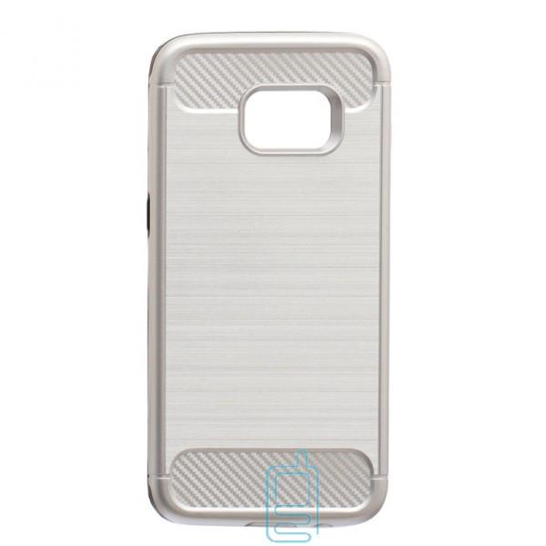 Чехол-накладка Motomo X6 Samsung S7 Edge G935 серебристый