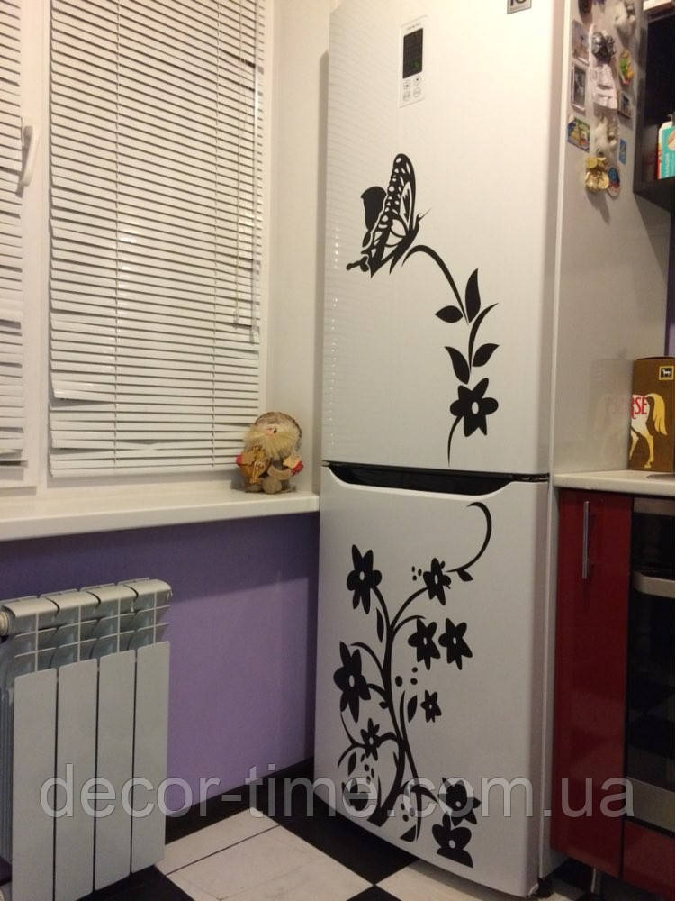 Декоративная интерьерная виниловая наклейка на стену, холодильник, зеркало   (078348345)