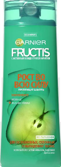 """Шампунь Garnier Fructis """"Рост во всю силу"""" 250 ml"""