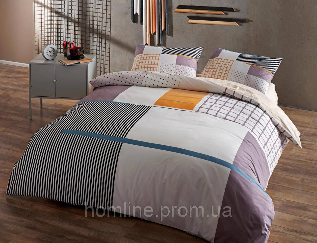 Детское постельное белье Tac Teen Ranforce Berkley gri v01 серый 160*220 полуторное подростковое