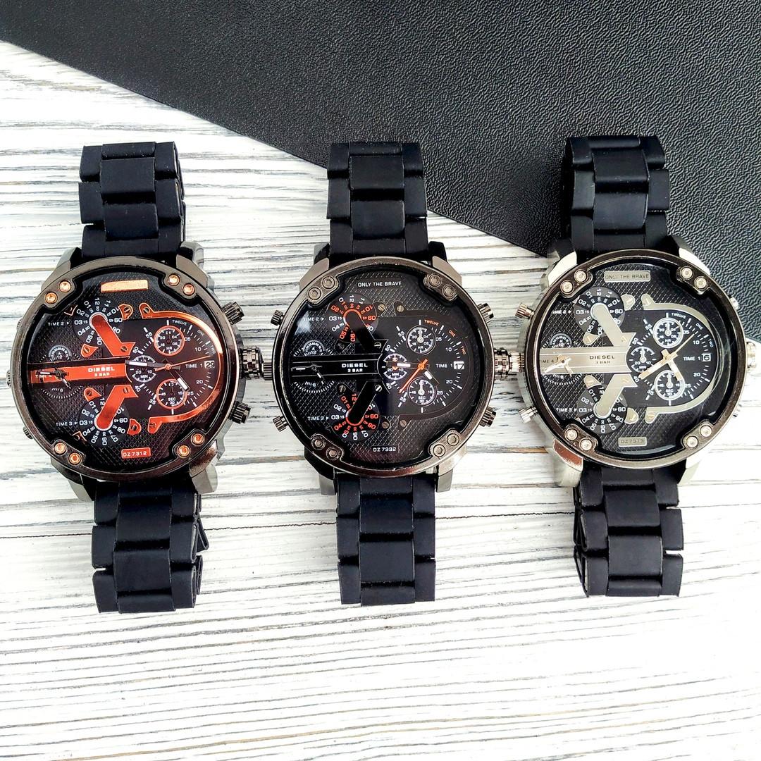 a8d3b0efd9d0 Купить Наручные часы Diesel DZ7314 All Black-Orange Silicone 513 грн ...