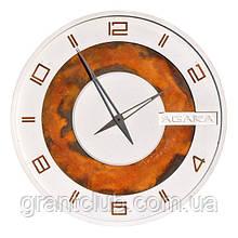 БЕТОННЫЕ ЧАСЫ LORI white/rust, 64 см, Agara