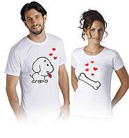 Футболки для влюбленных пар Любимый пёсик