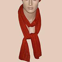 Вязаный зимний шарф - трубочка терракотового цвета