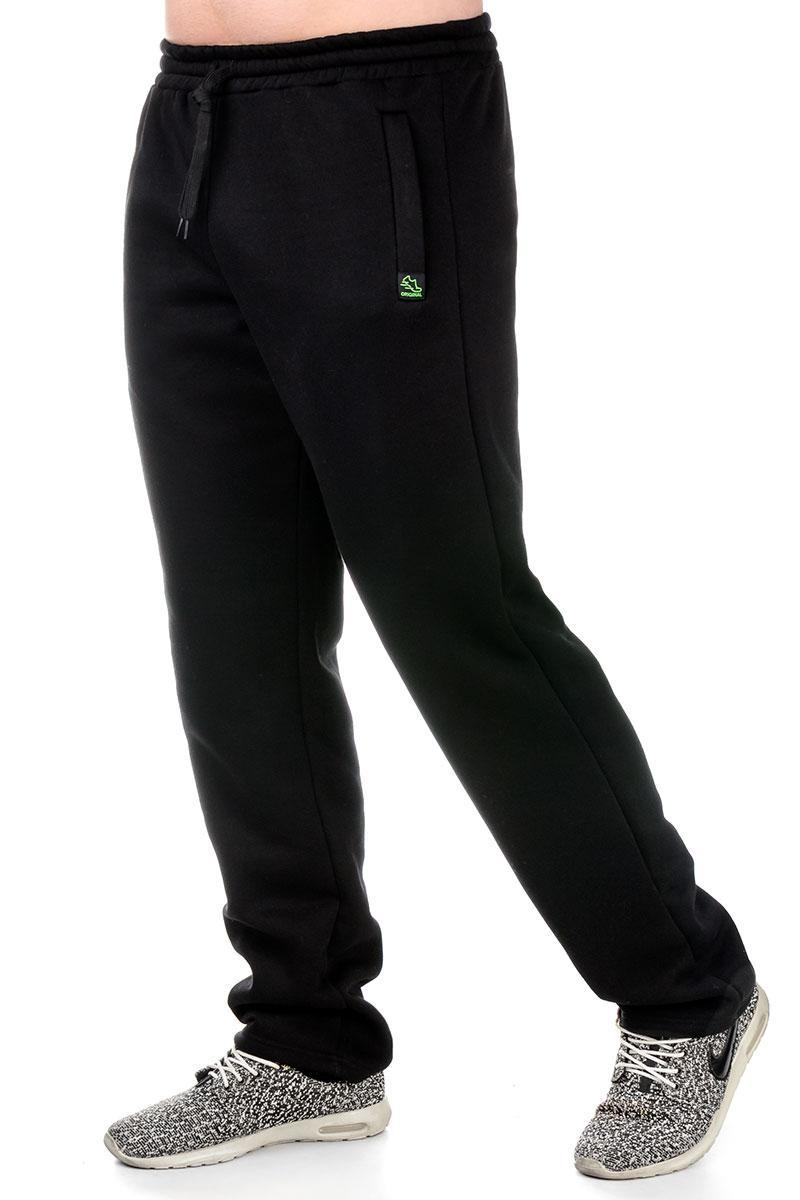 Теплые спортивные брюки 017 черный