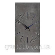 БЕТОННІ ГОДИННИК ZEGO black/mirror, 80 х 40 см, Agara
