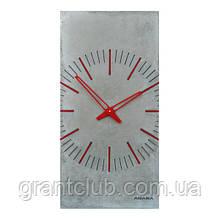 БЕТОННІ ГОДИННИК ZEGO gray 80 х 40 см Agara