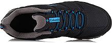 """ОРИГИНАЛ! Зимние кроссовки на флисе Columbia Firechamp 2 Fleece """"Black/Hyper Blue"""" ( Черные / Синие ), фото 3"""
