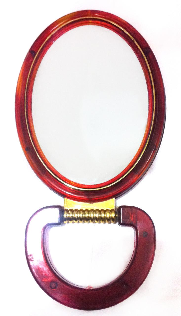 Зеркало двустороннее настольное овальное Д.8,5х12,5 см