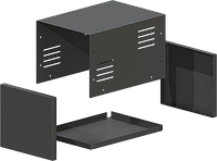 Универсальный металлический корпус  MB-43ECU-W155H135L220, RAL9005 (Black)