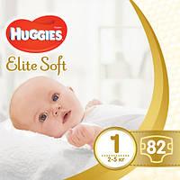 """Huggies Подгузники """"Elite Soft"""" 1, 2-5кг, 82шт"""