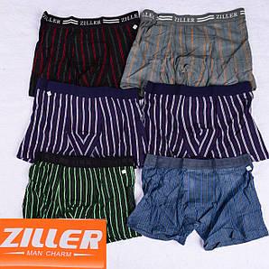 Мужские трусы боксеры  Ziller Z019,Z021-1 L 42-44. В упаковке 6 штук